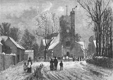 LONDON. Hadley Church 1888 old antique vintage print picture