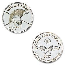 2017 Molon Labe W/Colts 1 oz .999 Silver BU Round USA Coin - COME AND TAKE IT!