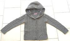 Gilet fille chaud 10 ans KIABI gris avec capuche doublée en fourrure