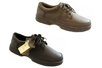 Mens Dr Keller Leather Wide Fit Lace Up  Black Taupe Grey Casual Work Shoes