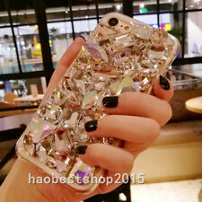 3D Luxury Bling Diamond Rhinestone Case Girls' Soft TPU Back Phone Cover Skin C