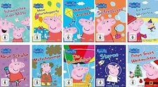 10 DVDs * PEPPA PIG - VOL. 1 - 9 + WEIHNACHTEN IM SET # NEU OVP +