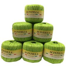 Gomitolo Cotone Scintilla 10 Pezzi Col Verde Lamè n°10