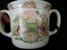Baby drinking cup Royal Dalton Bunnykins 2 handles china keepsake Beatrix Art