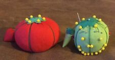 Vintage Tomato And Lime? PIN CUSHION with Japan Tag