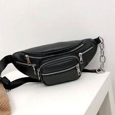70a501a55e1b Fashion Waist Fanny Pack Women Leather Belt Zipper Waist Bag Chest Tote  Purse US
