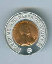 ENCASED BY EVERETT W SMITH FOR COMMISSIONER AN UNCIRCULATED 1957-D CENT
