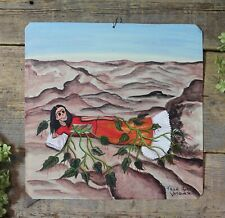 Roots Frida Kahlo Portrait Day of the Dead Tin Painting Oaxaca Mexican Folk Art