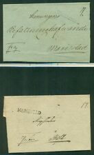 SWEDEN STAMPLESS COVERS 18 diff, 1830's-50's w/st line, circular & boxed cancels