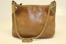 Gucci Vintage Distressed Leather Premium Hardware Chain Strap Shoulder Bag