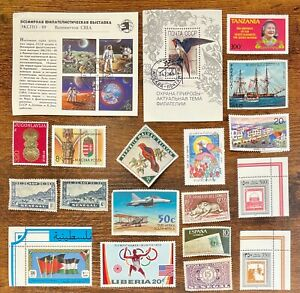 [Lot 358] 100 Assorted Worldwide Stamp Collection Off Paper - All Stamps Shown!