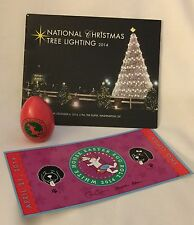 PRES OBAMA SIGNED 2014 EASTER PINK EGG + TICKET & WHITE HOUSE CHRISTMAS BOOK = 3
