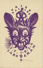 Ex libris Art Deco PF 1934 by BERAN JARO (1892-1962) Czech