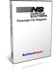 Norfolk Southern Passenger Car Diagrams - PDF on CD - RailfanDepot