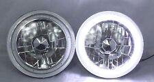 "1986-1995 Suzuki Samurai 7"" Round 6014/6015/6024 White LED SMD Halo Headlights"