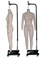 Professional Female Full Body Mannequin Dress Form, W/Arms Size 4 (wfcs 4+2)