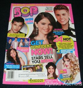 BOP Magazine February 2012 Justin Bieber One Direction Big Time Rush Taylor