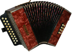Melodeon Hohner Pokerwork C#/D  very good condition!!!