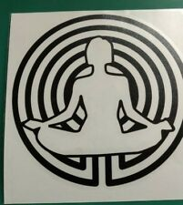Yoga Spiral logo - Car/Van/Camper/Bike Decal Sticker Vinyl Graphic