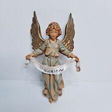 "Vtg 1983 Gloria Angel by Roman Fontanini Christmas Nativity Figurine Italy 5"""