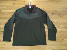 NWT Men's Legendary Whitetails Black Forest ½ half Zip sweater jacket sz large L