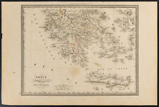1840 - Carte de la Grèce ancienne méridionale (Dufour & Picquet)