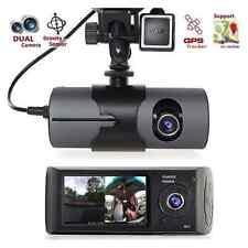 Dual Dash Car Camera GPS logger HD In-Car Truck Home Security System Video Crash