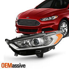 For 2013-2016 Ford Fusion 4Door [Halogen Style] Projector Headlight Left Driver