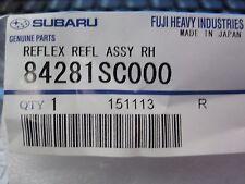 Genuine OEM Subaru  Forester Right Rear Bumper Reflector 2009-2018(84281SC000)