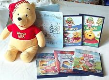 Winne the pooh DVDs Toy & Book Bundle Piglet Movie Christmas New Year