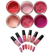 """princess"" Nail Additives Mica Pigment Powders Set for UV GEL Acrylic More"