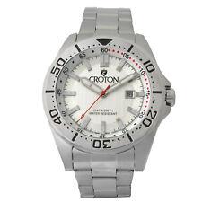Croton Aquamatic Men's CA301298SSSL Quartz Silver-Tone Bracelet 42mm Watch