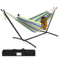 2-Person Double Hammock w/ Steel Stand with Carrying Case