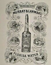 MURRAY & LANMAN'S FLORIDA WATER, New York, Beverage, Vintage 1890 Print Ad