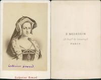 Marquise de Maintenon CDV vintage albumen. Tirage albuminé  6,5x10,5  Circ
