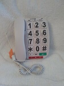 Opticom B300 Big Button Corded Telephone With Speaker Phone