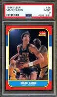 Mark Eaton Rookie Card 1986-87 Fleer #28 PSA 9