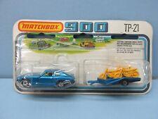 MatchboxSuperfast TP-21 Motorcycle Set 67C Blue W/ Blue Trailer