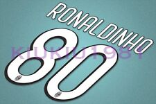 AC Milan Ronaldinho #80 2009-2010 Homekit Nameset Printing