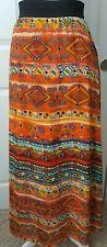 NWT LuLaRoe Lucy Long Maxi Skirt Small - Boho Tribal Print