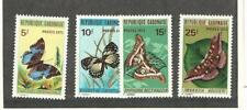 Gabon, Postage Stamp, #272-275 Mint Hinged, 1971 Butterflies
