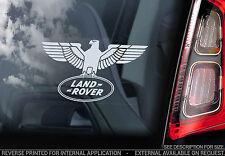 LAND Rover-Finestra Auto Adesivo-Defender Discovery Decalcomania Emblema Segno-V04