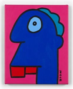 Thierry Noir original canvas head painting. Beautiful Colour Way - SOLD OUT
