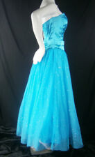 MASQUERADE BLUE 6 FORMAL GOWN DRESS CRUISE PROM PAGEANT PRINCESS TULLE SPARKLE