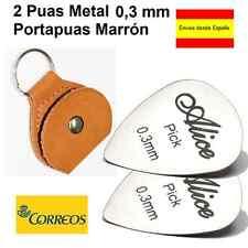 2 PUAS METAL 0.3 MM + PORTAPUAS LLAVERO MARRON