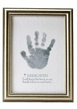 The Grandparent Gift Co. Growing in Faith Handprint Frame, Baby Dedication, New,