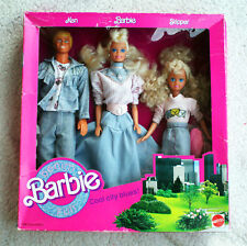 Vintage BARBIE SET: COOL CITY BLUES, 1989! Incl KEN & SKIPPER DOLLS! BRAND NEW!