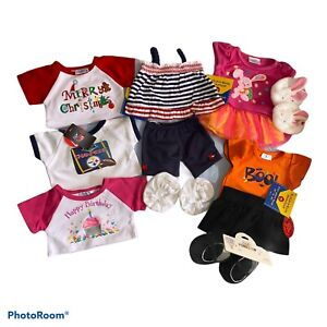 Lot Of 9 Build A Bear Clothing Items 3 Pair Shoes Holiday Xmas Easter Etc.