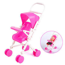 Pink Cute Barbie Stroller DIY Assembly Baby Buggy For Barbie Doll Furniture Toy
