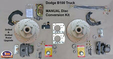 "1949-1953 DODGE B100 FRONT MANUAL DISC BRAKE CONVERSION KIT - 11"" Drilled & Slot"